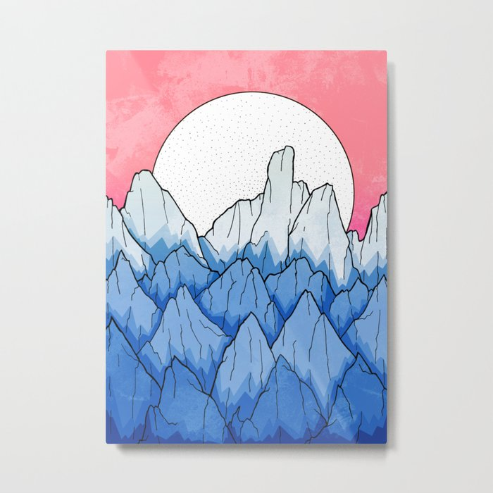 As the mountains turned blue Metal Print