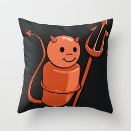Peg Devil Throw Pillow