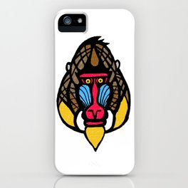 Mandrill Monkey iPhone Case