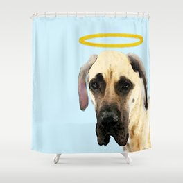 Great Dane Art - I Didn't Do It Shower Curtain