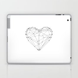 Love Heart Geometric Polygon Drawing Vector Illustration Valentines Day Gift for Girlfriend Laptop & iPad Skin