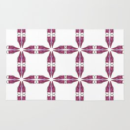 Luxury vint. mandalas pink on white Rug