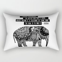 Blessing Buddha Quote Rectangular Pillow