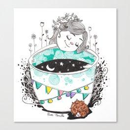 Pique en boule Canvas Print
