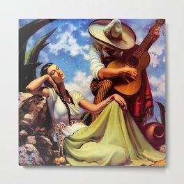 Love and Spanish Guitar under Sonoran Desert Skies by Jesus Helguera Metal Print