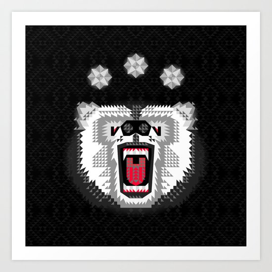 Polar Bear Geometric Art Print