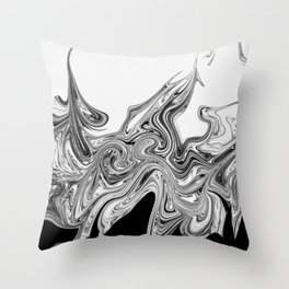 Modern contemporary Black and White Abstract Throw Pillow