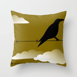 Quoth the Raven, Nervermore Throw Pillow
