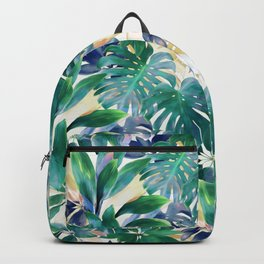 Golden Summer Tropical Emerald Jungle Backpack
