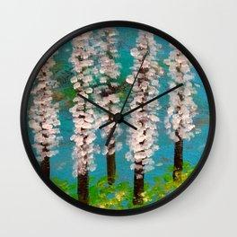 cherry trees Wall Clock