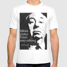 Ideas come from everything White MEDIUM Mens Fitted Tee