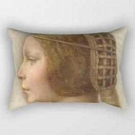 "Leonardo da Vinci ""Bella principessa"" Rectangular Pillow"
