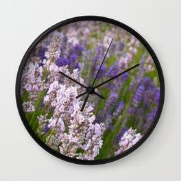 English Lavender Wall Clock