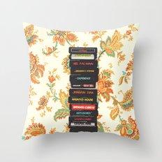 Atari & Flower Wallpaper Throw Pillow