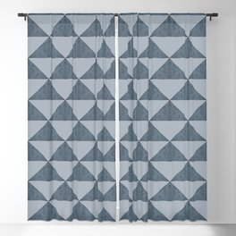 Cement Bluestone Triangles Blackout Curtain