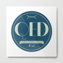Quantum Electrodynamics Logo Metal Print