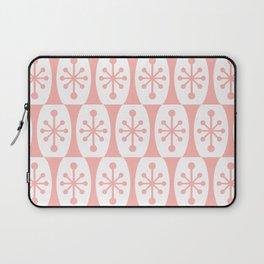 Mid Century Modern Atomic Fusion Pattern Peach Laptop Sleeve