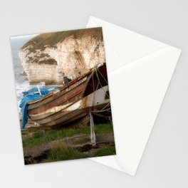 Boats at Thornwick Bay Stationery Cards