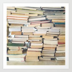 Books, Pages, Stories Art Print