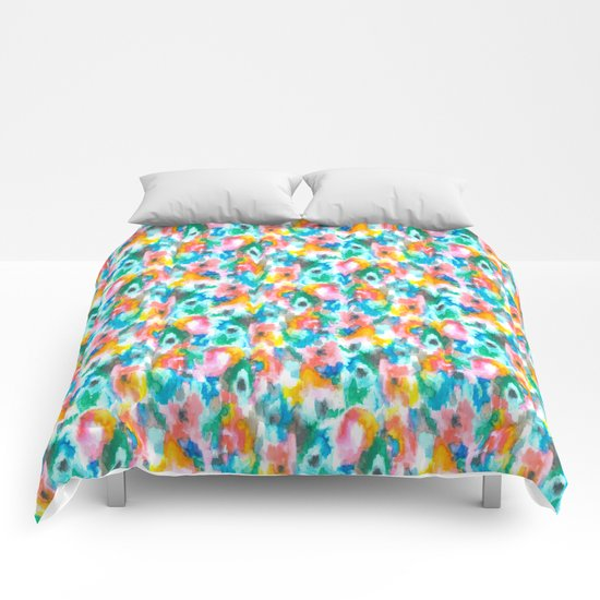 Paradise Watercolor Ikat Comforters