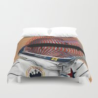 spaceman Duvet Covers featuring Spaceman No:2 by FAMOUS WHEN DEAD
