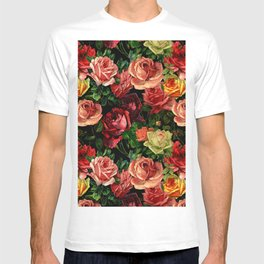 Vintage & Shabby chic - floral roses flowers rose T-shirt