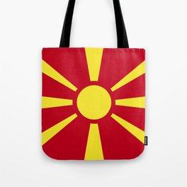 Macedonia flag emblem Tote Bag