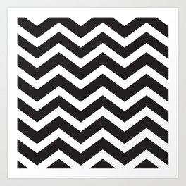 Black & White Chevron Art Print