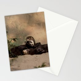 Quiet, please! He is sleeping Stationery Cards