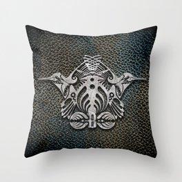 Bassnectar Family Crest (Metal) Throw Pillow