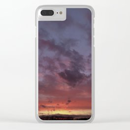 sunset skies Clear iPhone Case