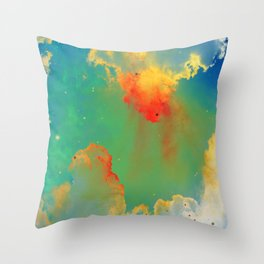 Goldfishes of the Universe Throw Pillow