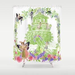 Vintage Fairy Garden Shower Curtain