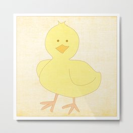 Baby Chick Farm Animal Series Metal Print