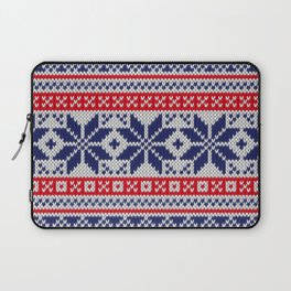 Winter knitted pattern 7 Laptop Sleeve