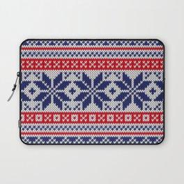 Winter knitted pattern 7 Laptop Sleeve