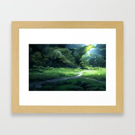 The Forest of The Giant Plants Framed Art Print