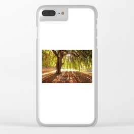 Autumn Willow Clear iPhone Case