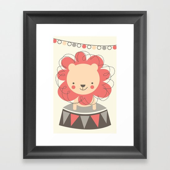 Leo the Lion  Framed Art Print