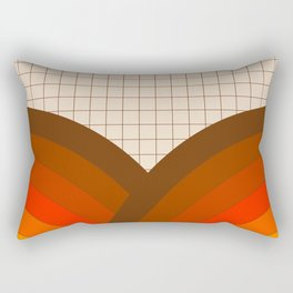 Tan Gridlines Rectangular Pillow