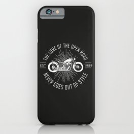 The lure of the open road never goes out of style iPhone Case