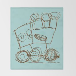 Ben's Monster Trucks no.1 Throw Blanket