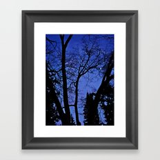 Cemetery trees Framed Art Print