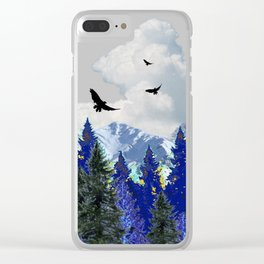 PURPLE MOUNTAINS WILDERNESS LANDSCAPE Clear iPhone Case