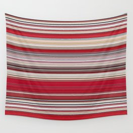 Modern Red Tan Line Decor Wall Tapestry