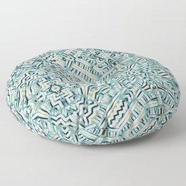 Clandestine Teal Floor Pillow