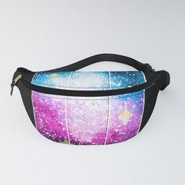 Watercolor Galaxy Crystal Violet Fanny Pack