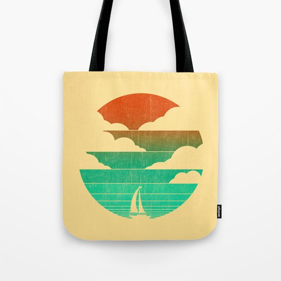 Go West (sail away in my boat) Tote Bag