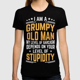 Retirement Grandpa  I Am A Grumpy Old Man Gift T-shirt