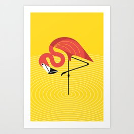 Tropical Flamingo Art Prints | Society6